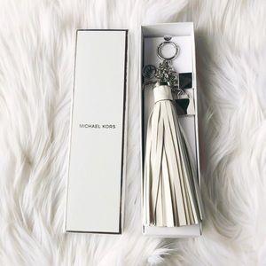 Michael Kors White Tassel Keychain ✨Brand New!